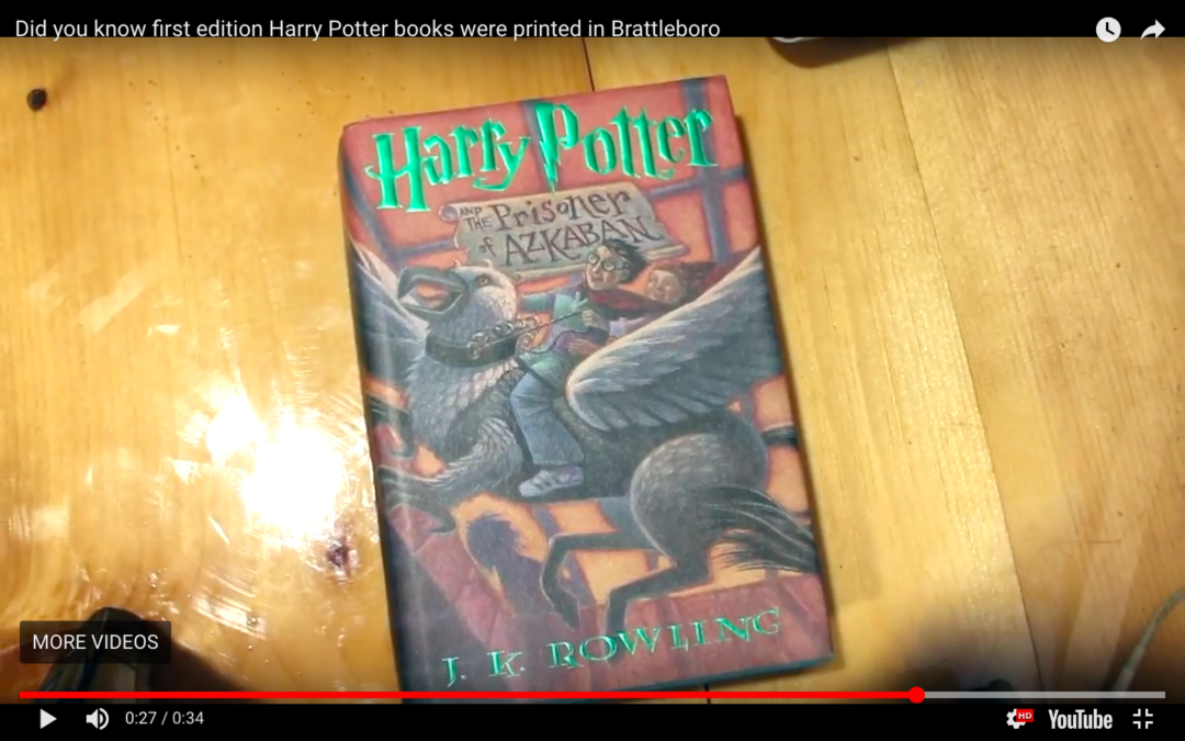 Did you know first edition Harry Potter books were printed in Brattleboro?