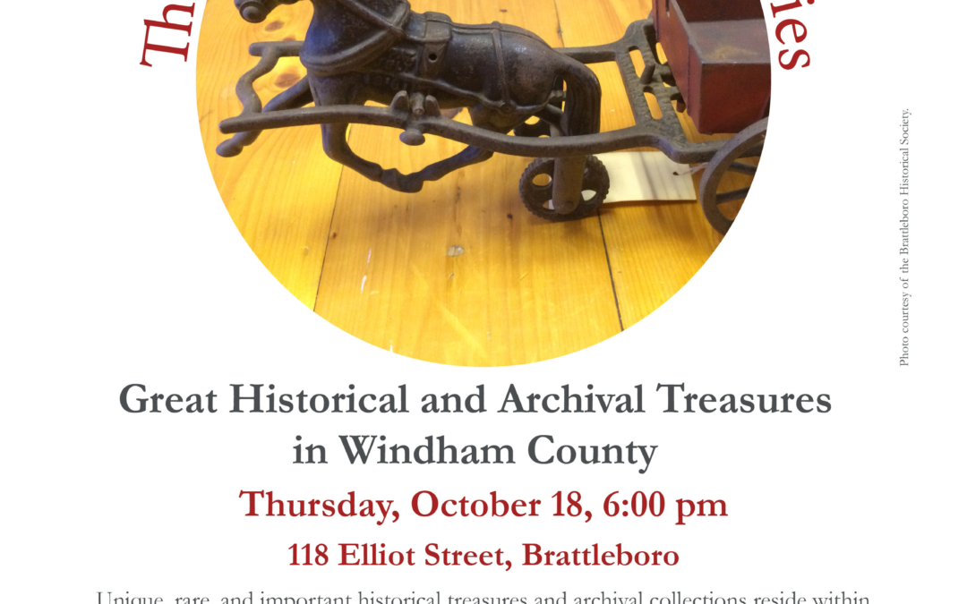 October's Roundtable Discussion: Historical & Archival Treasures
