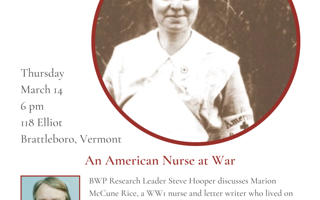 March Roundtable: Award-Winning Short Film Honors Local Nurse's Service in WWI