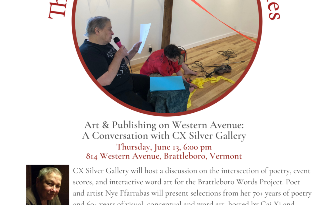 June Roundtable: 70+ Years of Poetry with Nye Ffarrabas & CX Silver Gallery
