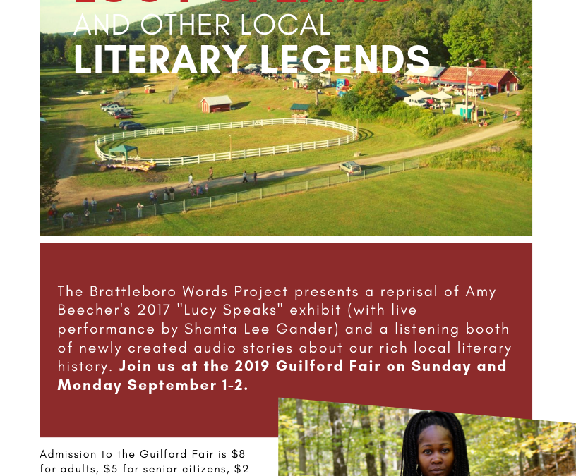 """""""Lucy Speaks"""" Exhibit and Other Local Literary Legends at the 2019 Guilford Fair"""