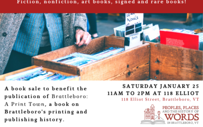 Book Sale Benefit 1/25/2020 11AM-5PM