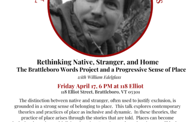April 17 2020: Rethinking Native, Stranger, and Home with William Edelglass